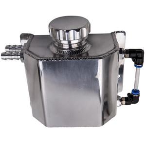 Sıcak satış Alüminyum Alaşım 1L Soğutucu Radyatör Taşma Kurtarma Su Deposu Şişe Gümüş Petrol Yakalama Can