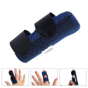Großhandel Schmerzlinderung Aluminium-Fingerschiene Fraktur-Schutz-Brace-Korrektor-Unterstützung mit einstellbarer Bandbandage DHL-freies Verschiffen