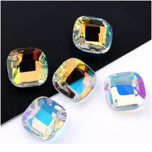 Miglior qualità 20mm forma quadrata pendente cristallo strass perline gens per orecchini collana accessori gioielli fai da te 1 qylwab