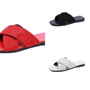 DPV2B Farbe Mode Folien Männer Frauen Leinwand Hausschuhe Männliche Designer Sandalen einfrieren Luxus Slipper Sommerschuhe Fransen Slip-resistent Strand
