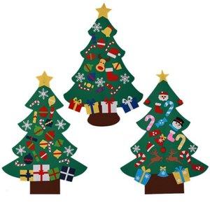 Prodotti decorativi Felt sospensione parete dell'albero di DIY dei bambini di Natale ornamenti