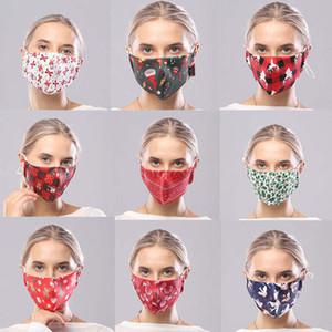 Рождественская маска для лица дизайнер партии маски спот дышащий пыле хлопок маска для взрослых Рождество родитель-ребенок тема хлопковой маски