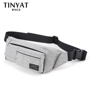 Tinyat homens mulheres saco de saco de bolsa para o cinto masculino para dinheiro dinheiro cinto de cinto com 4 bolsos viagem casual bolsa de cinto 0. lj200930