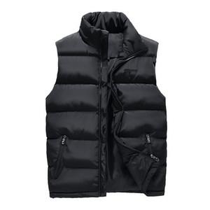Chaleco sin mangas ocasional de los hombres otoño invierno chaquetas gruesas capas chalecos Hombre masculino de algodón acolchado chaleco caliente Hombres Chaleco Veste Hommes