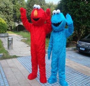 Sesame Street Blau Cookie Monster Mascot blau Elmo Kostüm Abendkleid-erwachsene Größe Halloween freies Verschiffen