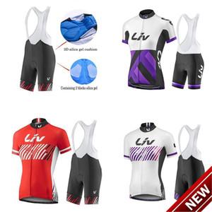 2021 새로운! 리브 팀 여성 자전거 유니폼 세트, 여름 자전거 의류 여성용 자전거 의류 자전거 의류 자전거 저지 + 턱받이 반바지.