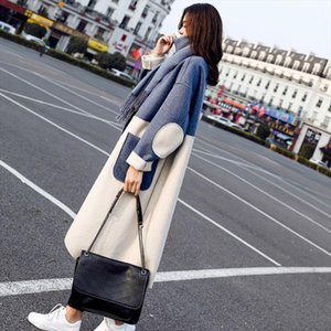 Casual A line Loose Long Full 2020 Fashion Women Open Stitch Cotton Womens Coat Warm Spring Autumn Female Cotton Coat