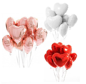 18inch Multi Color Rose Gold Heart Foil Balloons Helium Balloon Birthday Party Decorations Kids Adult Wedding Valentine's Day Ballons