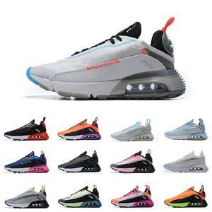 Erkek Kadın 2090 Koşu Ayakkabıları Üçlü Siyah Yüksek Kalite 2090 S Tasarımcı Sneakers Klasik Rahat Eğitmenler Boyutu 36-46 Erkek Kadın Için