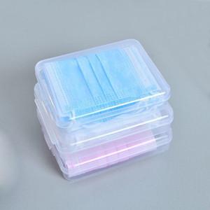 Mini transparente claro de la máscara cuadrada caja de almacenamiento Cajas de plástico para la mascarilla del soplo tarjeta pestañas falsas caja vacía de belleza Caja de empaquetado