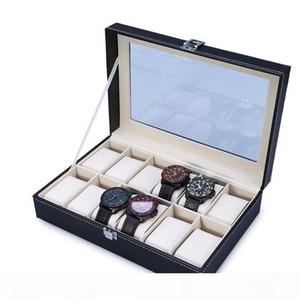 2020 High Quality PU Leather 12 Slots Wrist Watch Display Box Storage Holder Organizer Watch Case Jewelry Dispay Box