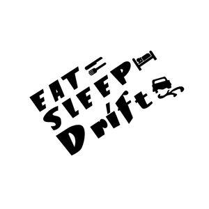 12*17cm Sleep Drift Stickers for Cars Funny Car Window Bumper Novelty JDM Drift Vinyl Decal Sticker Car Sticker