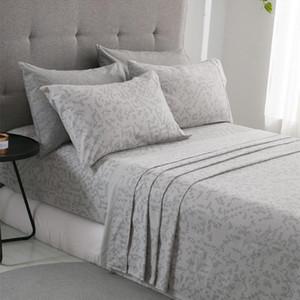 PHF Flannel Bed Pields и наволочки хлопчатобумажные кровати Уболы мягкой королевы королевского размера постельное белье Светло-серый Blue1
