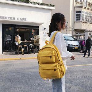 Teenage Girls Backpack Women Multi Pocket Travel Backpacks New Waterproof Nylon Backpack Female School Bag Book Mochilas