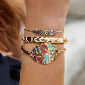 Eyes terroristi tribali tribale braccialetto etnico colorato femmina retrò diamante diamante diavolo orecchio regolabile gioielli di mano all'ingrosso regali natale