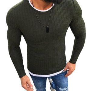SHUJIN Plus Size Slim Fit Sweater Men 2020 Autumn O-Neck Knitted Sweaters Men Casual Solid Pullover Mens Sweaters Pull Homme