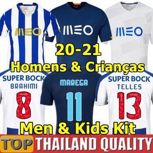 2020 Alex telles camisas de futebol Tecatito Mehdi Nakajima Matheus Camisa de Futebol Infantil Otavio Felipe Evanilson Pepe Men Kids Kit uniformes