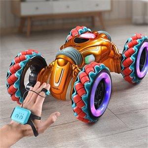 Novo 2. Sensor Gesto Twisted Light Music Controle Remoto Stunt Dancing Car For Kids Presentes Brinquedos RC Modelo LJ201210