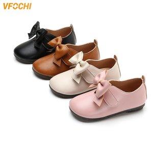 Vfochi Cuero para niños Tacones de tacón bajo Niños Princesas Adolescentes Girls Baile Shoes 201130