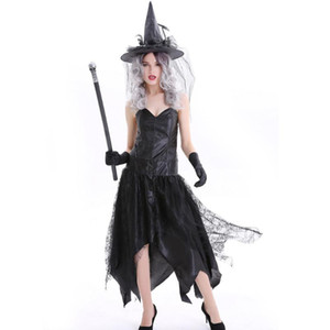 Halloween Theme Cosplay Clothing Witch Costume Dress Costumes Adult Christmas Get Together Party Clothes