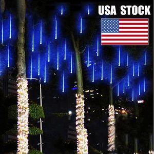 LED chuva caindo Luzes Waterproof Meteor Shower Acende 50cm 10 tubos 480 LEDs, Queda de Raindrop Luzes de Natal Cascading sincelo Cordas