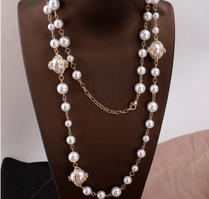 charming fashion up-market style diamond Pearl lady's Necklace