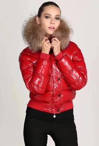 2020 Nova Moda Top Mulheres A Jaqueta Lustrosa Down Winter Mulheres Vestido Down Casaco Real Raccoon Pele Casaco Destacável Collar Hood Parkas Celebrity