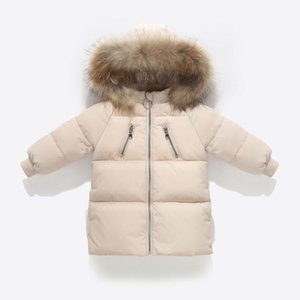 2020 Girls Kids Warm Outerwear White Duck Down Jacket For Girl Winter Coat Boy Girl Overcoat Clothes Parkas LJ201203