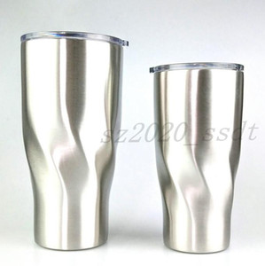 The latest 30OZ and 20OZ stainless steel natural color twist cup cold insulation mug hemp coffee beer mug water cup free shipping