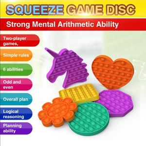 EUA Stock Pop It Fidget Toy Sensory Push Pop Bubble Fidget Toy Sensory Decompression Toy Autism Especial Necessidades Ansiedade Stress Reliever