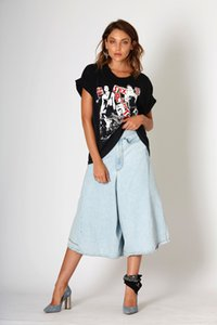 2020 Women's Summer jeans skirts loose Jeans Ladies Fashion wide leg Jean FOUR MILE CULOTTE ANTARCTIC BLUE