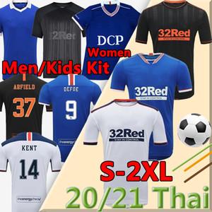 2020 2021 Glasgow Rangers FC Retro Sonderversion Fussball Jerseys Football Hemden Defoe Hagi Morelos Kent Herren Kit Kinder Frauen MAILLOT DE FOOT
