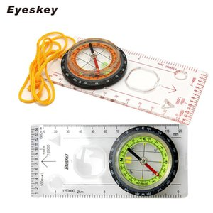Eyeskey Outdoor Camping Directional Cross-country Race Hiking Special Compass Baseplate Ruler Map Scale Compass Night bussola 201113