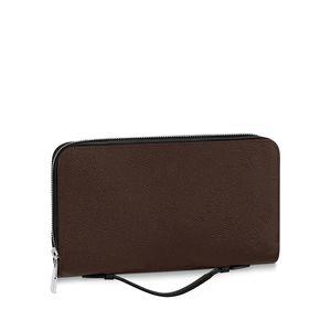 XL Wallet Herren Brieftasche Zippy Wallet Männer Lange Brieftaschen Falten Kartenhalter Passinhaber Frauen Lange gefaltete Geldbörse Foto Beutel 615 061 # CT01