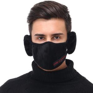 2 in 1 Unisex Mouth Muffel Cotton Earmuffs Masken Winter Fashion Männer Frauen Outdoor-Warm-windundurchlässiges Halb Radfahren Masken Maske GGA3784-7