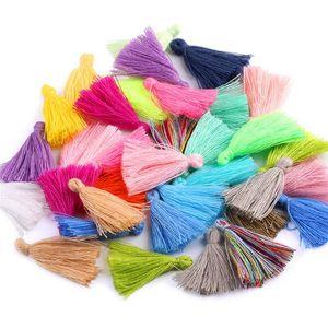 1 paquete Color Mini Borla Fringe Colgante DIY Material Partido Cordones de algodón Tassel Recortes Ropa Cortinas Decoración de Joyas Barlejo Lace H Jllvao