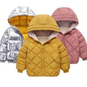 kids jacket snowsuit space NEW children's winter jacket for kids girls silver gold boy casual hooded jacket 201110