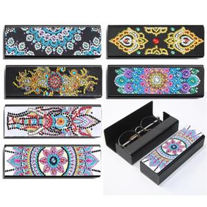 5D DIY FloraDiamond Painting Special Shape Eyeglasses Storage Box Case Mandala Diamond Embroidery Leather Sunglasses Holder Gift