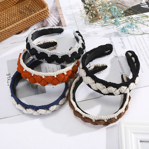 Winter Thick Hairband For Women Retro Wide Headband Fashion Headwear Knitting Braided Hair Bands Hair Accessories