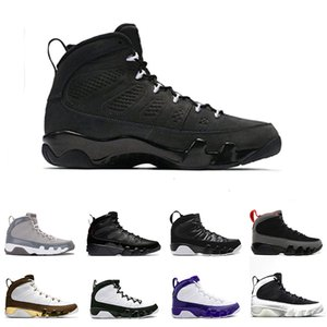 New 9 9s Mens Basketball Mop Melo LA Bred High OG Space Jam Tour Yellow PE Anthracite sports trainers Sneakers Shoes