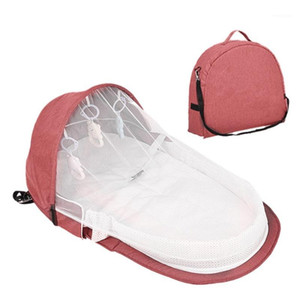 Fashion Baby Travel Beds Sun Protection Mosquito Net Breathable Infant Baby Bed Sleeping Basket With Toys1