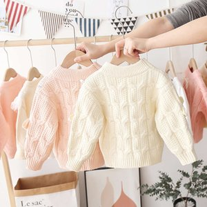 new Autumn winter warm sweater 2020 T-shirt girl's round neck Pullover children's et WJT3H605