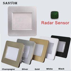 Smart LED Wall Light 1.5W Radar Detection Stair lights Recessed Wall lamp for Step,Ladder,Kitchen,Foyer,LivingRoom,Indoor