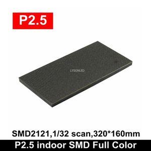 عرض P2.5 Indoor SMD2121 كامل اللون LED الوحدة 1/32 مسح 320x160mm عالية الوضوح RGB لوحة الجدار فيديو