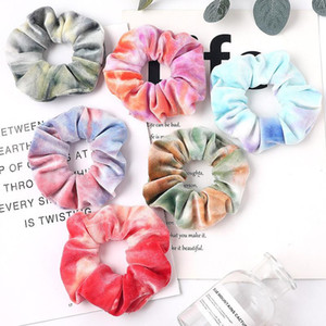 Fashion Velvet Scrunchies Elastic Hair Bands Elegant Gradient Color Women's Hair Scrunchie Girls Scrunchies Accessories