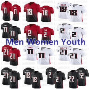 2020 nouveaux hommes femmes jeunesse 21 Todd Gurley II 2 Matt Ryan 11 Julio Jones Ridley 22 Keanu Neal Jersey