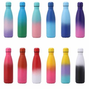 High quality 17oz Water Bottle Stainless Steel Vacuum Insulated Thermos Leak-Proof Double Walled Cola Shape Flask Free Shipping