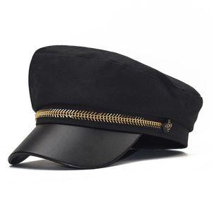 Wool Hat estilo britânico Warm Spring Cap Mulheres da Moda Outono Retro Newsboy Caps Men Octagonal Cap Feminino Visor Caps