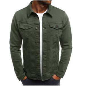 New Fashion Designer Coats Mens Denim Jacket Slim Men Denim Jacket Solid Male Jean Jackets Men Cowboy Outwear Clothing Hip Hop Streetwear