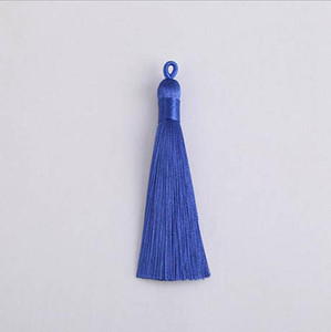 10pcs 8cm Colorful Polyester Silk Tassel With Pull Ring For Hanging Earring Charms Making Diy Jewlery Pendants Accessories H wmtBYt